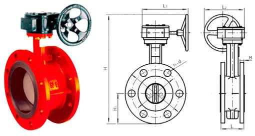 Затвор дисковый поворотный фланцевый ДУ 350 (DN 350)