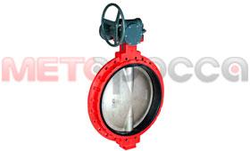 Затвор дисковый ДУ900 (DN 900) поворотный межфланцевый